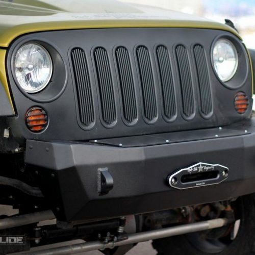 Jeep front bumper winch plate