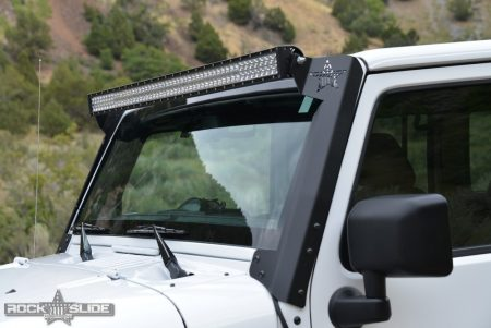 """A-Pillar 50"""" light bar bracket Jeep Wrangler JK"""