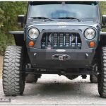 Jeep Wrangler JL stubby front bumper with bull bar