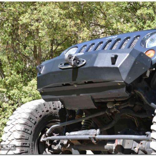Jeep Wrangler JK front bumper skid plate